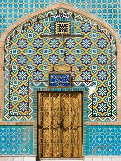 Tiling Around Door, Shrine of Hazrat Ali, Mazar-I-Sharif, Afghanistan