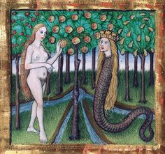discardingimages:  Eve and the SerpentFurtmeyr Bible, Regensburg after 1465München, BSB, Cgm 8010a, fol. 10r