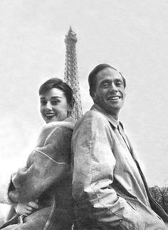 Audrey Hepburn and Mel Ferrer, Paris 1956