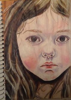 A study I did of one of Ishbel Myerscough's painting after I saw it in the national portrait gallery