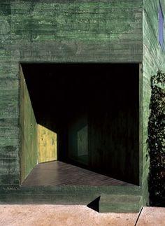 Pezo von Ellrichshausen Casa Fosc  San Pedro, Chile Facade Architecture, Beautiful Architecture, Pezo Von Ellrichshausen, Concrete Interiors, Green Interior Design, Concrete Facade, House On Stilts, Building Exterior, Brutalist