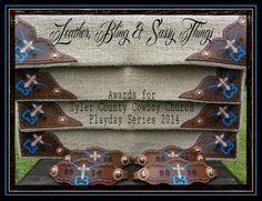 Hand Painted leather awards, nosebands, saddle blankets,  find me on FB