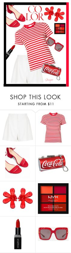 """""""Color-Red"""" by gemique ❤ liked on Polyvore featuring River Island, RE/DONE, Express, Simone Rocha, NYX, Smashbox and Dolce&Gabbana"""