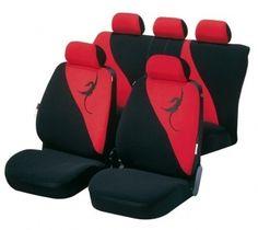 Autositzbezug Garnitur mit modischer Drachen Stickerei, nicht zu auffällig.