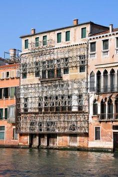 #andamios de seguridad en arquitectura antigua, Venecia