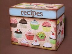 Recipe Box- cupcake