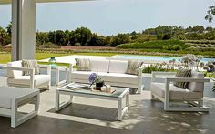 Deco Aluminum Patio Sofa & Lounge Chair Collection