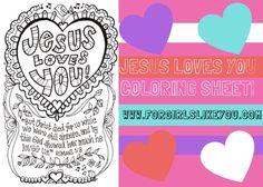 Jesus Loves You {Printable Color Me Valentine Card!)