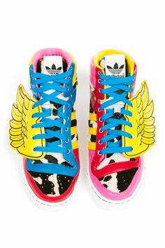 uk availability 4f11c 5290a Jeremy Scott x Adidas JS Wings Sneakers.so ugly but i love it