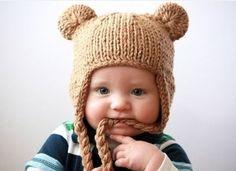 Bebek örgü bere ve şapka modelleri 2015