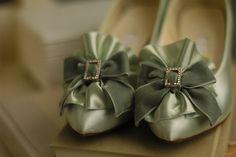 Marie Antoinette Shoes/Mint Green