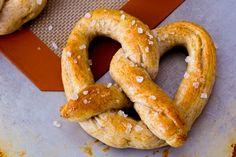 Homemade soft pretzels! Use same recipe for pizza dough.