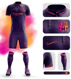 FC Barcelona Third Kit Design on Behance Barcelona Football Kit, Barcelona Third Kit, Barcelona Fc, Basketball Kit, Soccer Kits, Football Kits, Sport Shirt Design, Sports Jersey Design, Football Design