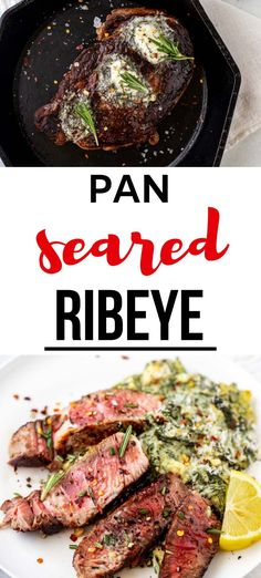 Steak is one of our family's favorite meals, and it doesn't get any better than this Pan Seared Ribeye with Herb Butter. This delicious and easy recipe is guaranteed to keep your taste buds singing.  #pansearedribeye #steak #keto #lowcarb