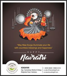 Kensafari wishes all of you happy navratri. Creative Brochure, Creative Posters, Happy Navratri, Navratri Wishes, Creative Circle, Creative Art, Design Agency, Happy Independence Day Images, Banner Shapes