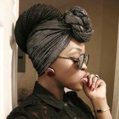 Headwrap with braids