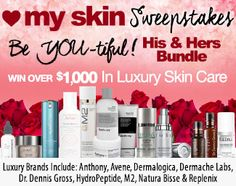 ❤+My+Skin+Sweepstakes+With+A+His+&+Hers+Bundle:+Win+Over+$1,000+in+Luxury+Skin+Care+Products!