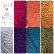 Gorgeous Dusky Rainbow yarn pack featuring 7 balls of Stylecraft Special DK. Pantone, Yarn Color Combinations, Colours That Go Together, Knitting Patterns, Crochet Patterns, Rainbow Crochet, Crochet Yarn, Crotchet, Free Crochet