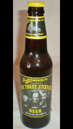 Three Stooges bottles for centerpieces