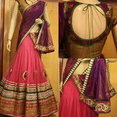 Elegant Half Saree by Sony Reddy ~ Celebrity Sarees, Designer Sarees, Bridal Sarees, Latest Blouse Designs 2014