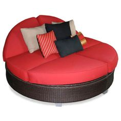 Outdoor Patio Heaven Signature Round Double Chaise