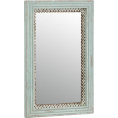 Showcasing fretwork detailing and an antique green finish, this mirror is the perfect focal point for your walls. Create an eye-catching feature wall by team. Bohemian Living, Bohemian Decor, Distressed Mirror, Duck Egg Blue, Blue Tones, Earthy, Oversized Mirror, Antiques, Mirrors