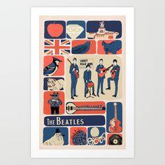 Beatlemania Art Print by Andrea Lauren - $16.00