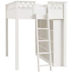 PB Teen Elsie Loft Bed + 3-Drawer Dresser Set, Simply White, Full at Pottery Barn Teen - Kids Bedroom Furnit