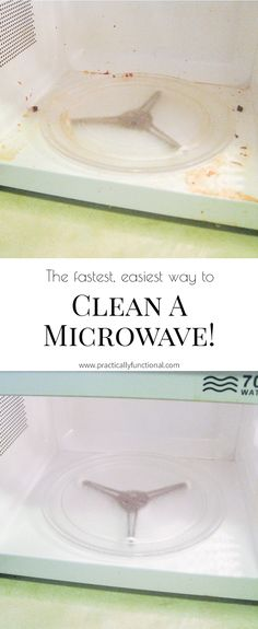 How To Clean A Microwave With Vinegar And Steam! || Practically Functional