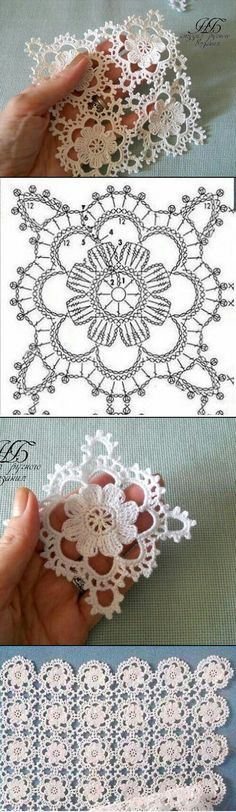 Latest Free Crochet Doilies ideas Strategies Very lacy floral crochet square motif Crochet Square Patterns, Crochet Motifs, Doily Patterns, Crochet Squares, Thread Crochet, Crochet Granny, Crochet Doilies, Crochet Flowers, Crochet Lace