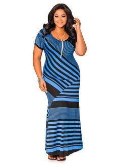 2fafb2f737e Bias Stripe Cap Sleeve Maxi Dress Bias Stripe Cap Sleeve Maxi Dress Maxi  Dress With Sleeves. ashleystewart.com