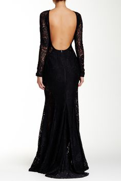 Floral Lace Sheer Illusion Gown by Issue New York on @HauteLook