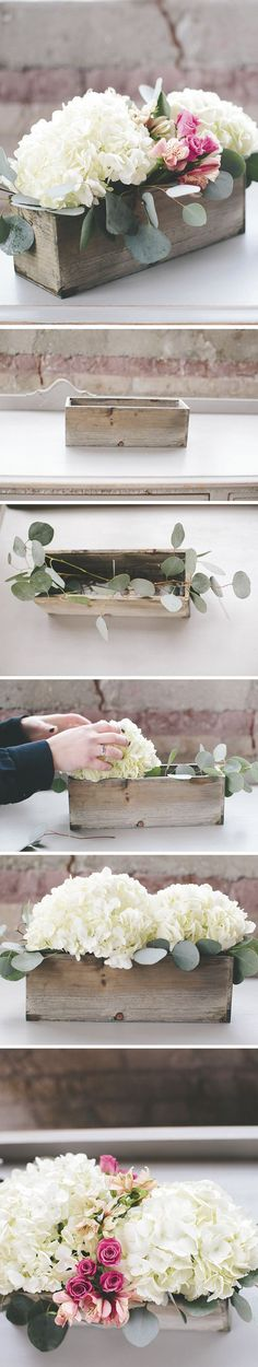 shabby chic diy hydrangea wedding centerpiece ideas