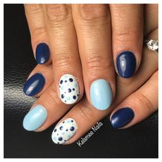 Blue with dots