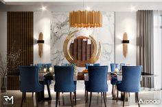 Modern Design in Dubai UAE on Behance Dining Area Design, Luxury Dining Room, Elegant Living Room, Villa, Luxurious Bedrooms, Home Interior Design, Flat Interior, Living Room Decor, Dubai Uae