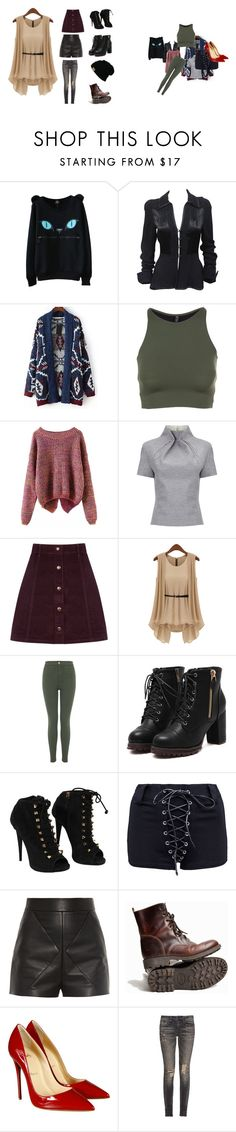 """""""UwU"""" by marymitch ❤ liked on Polyvore featuring Ossie Clark, Relaxfeel, Onzie, J. JS Lee, Oasis, Miss Selfridge, Giuseppe Zanotti, Balenciaga, Christian Louboutin and R13"""
