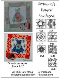 Pat Sloan Block 8 Grandmas Kitchen Apron quilt block http://www.ilovetomakequilts.com/2017/08/free-block-725-grandmas-kitchen-sew-along-with-pat-its-the-one.html