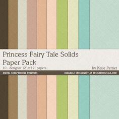 Princess Fairy Tale Solids Paper Pack- Katie Pertiet Papers- PP959136- DesignerDigitals