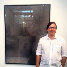 #DanielChant with his work 'Untitled 23' in #PaperWorksIII