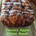 Awesome Country Apple Fritter Bread Recipe - Fluffy, buttery, white cake loaf loaded with chunks of apples and layers of brown sugar and cinnamon swirled inside and on top. Apple Desserts, Apple Recipes, Bread Recipes, Delicious Desserts, Cooking Recipes, Yummy Food, Top Recipes, Recipies, Fruit Recipes