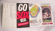1985 BOSTON RED SOX Schedule,Baseball Collectible,Red Sox Memorabilia,Sports Ephemera,Sports Collectible,Vintage Baseball Schedule,Fenway by KathysRetroKorner on Etsy