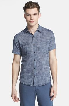 Billy Reid 'Donelson' Short Sleeve Chambray Shirt at Nordstrom.com.