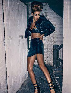 W November 2014 Ruffled Around the Edges Photographer: Steven Klein Stylist: Edward Enninful Models: Joan Smalls & Karlie Kloss Make-Up: Val Garland Hair: Shay Ashual
