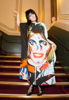Noel Fielding was his usual unassuming self at the private view of his new exhibition in London on Monday.