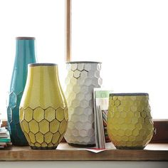 Hive vases from West Elm.