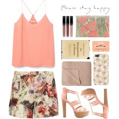 floral printed outfit