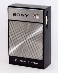 Vintage Sony Transistor Radio, Model AM Band, 7 Transistors, Made In Japan, Circa 1968 Infomercial Products, Sony Design, Radios, Pocket Radio, Transistor Radio, Tape Recorder, Technology Gadgets, Boombox, Abandoned Castles