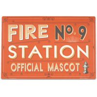 Fire Station Dog Place Mat #retro #pets  http://www.retroplanet.com/PROD/36260