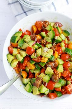 Tomato Avocado Cucumber Salad – Feelgoodfoodie