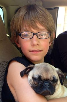 Travis and Brody the pug